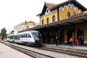The train station of Volos